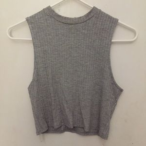 Tops - Stretchy Gray Crop Top